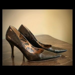 Dolce and Gabbana black high heels shoes size 36.5